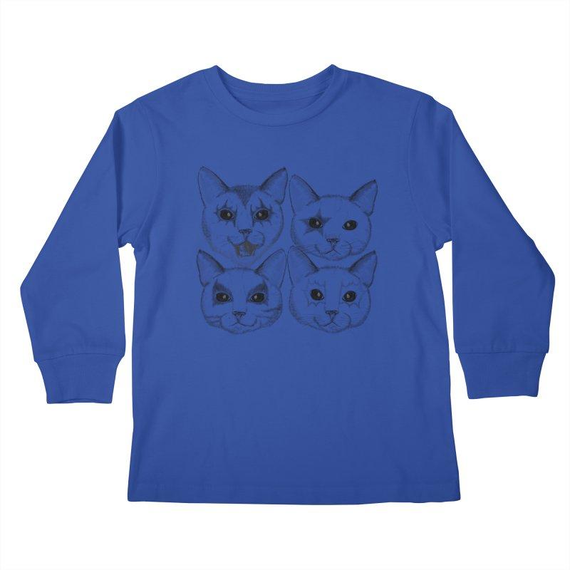 kiss cat Kids Longsleeve T-Shirt by SOE