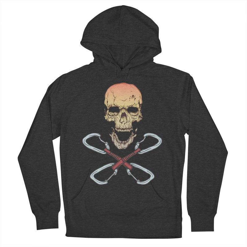 rock climber skull Men's French Terry Pullover Hoody by SOE