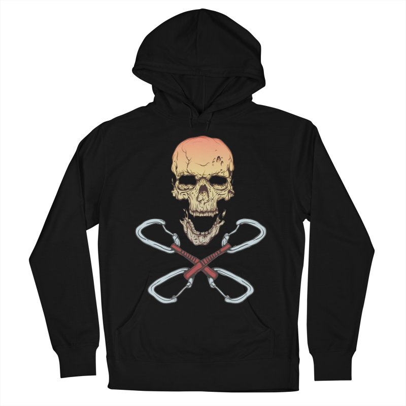 rock climber skull Men's Pullover Hoody by SOE