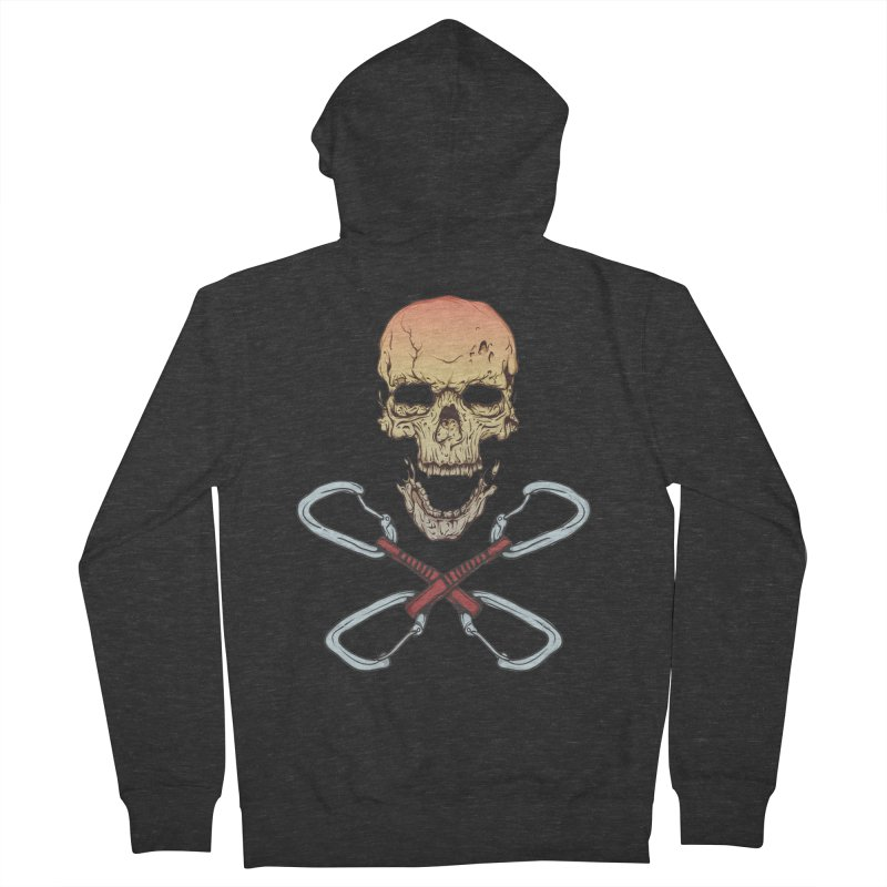 rock climber skull Women's Zip-Up Hoody by SOE