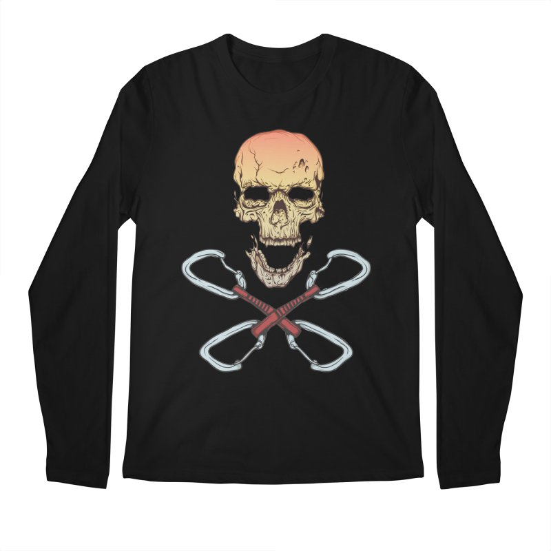 rock climber skull Men's Longsleeve T-Shirt by SOE