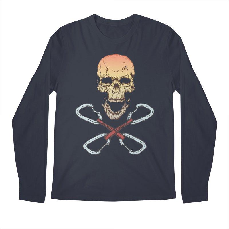 rock climber skull Men's Longsleeve T-Shirt by SOE