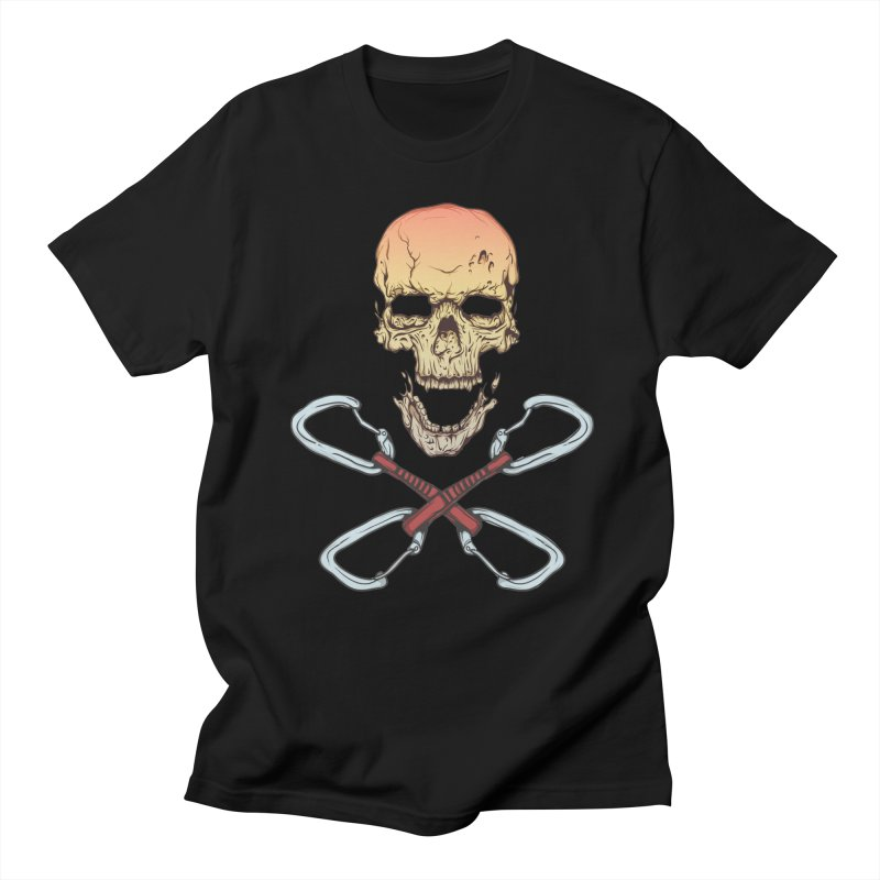 rock climber skull Men's T-shirt by SOE