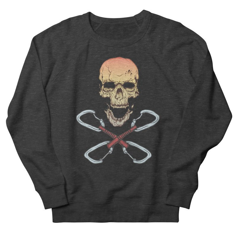 rock climber skull Women's Sweatshirt by SOE