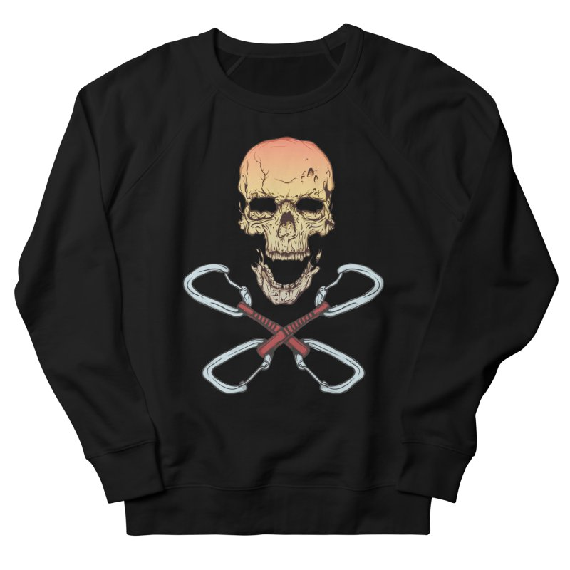 rock climber skull Men's Sweatshirt by SOE