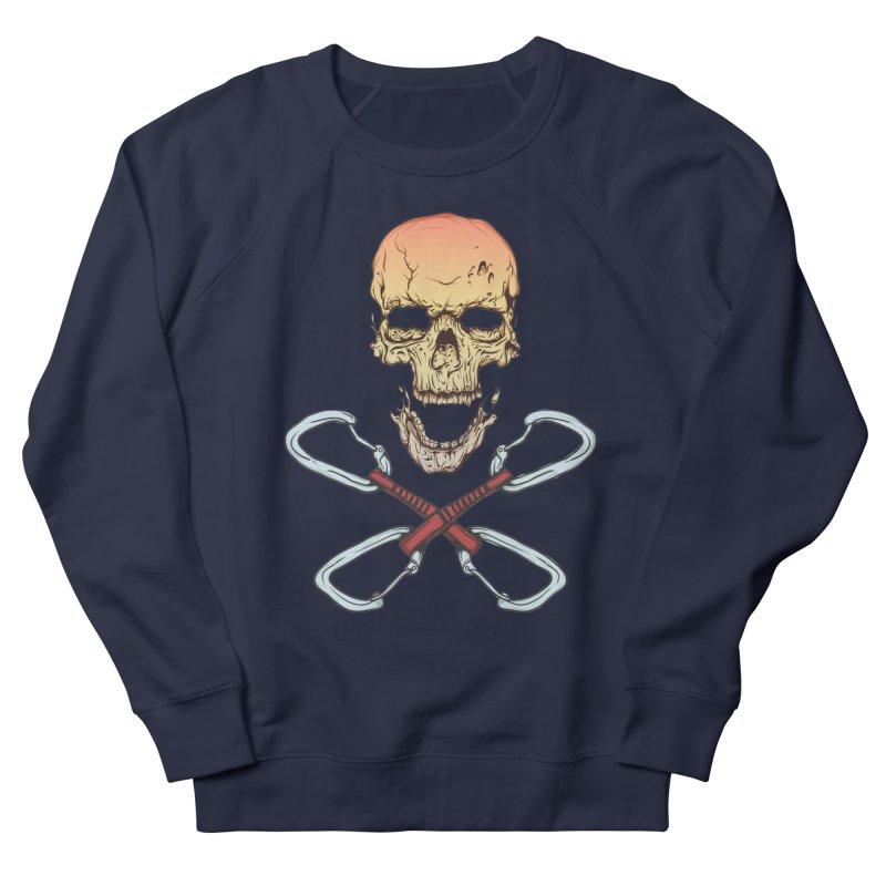 rock climber skull Men's French Terry Sweatshirt by SOE