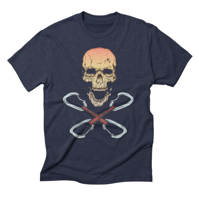 rock climber skull Men's Triblend T-Shirt by SOE