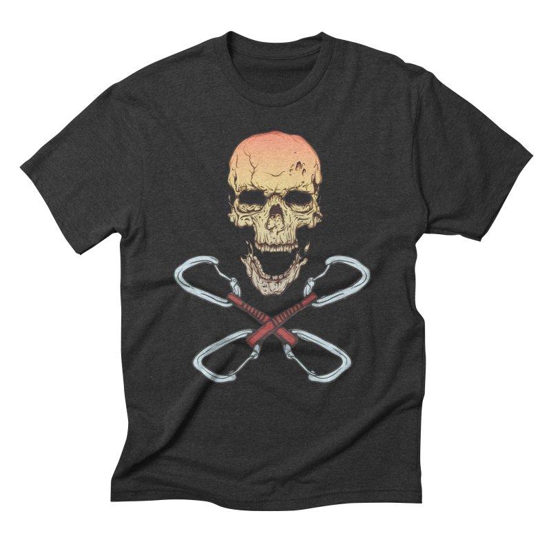 rock climber skull Men's Triblend T-Shirt by SOE