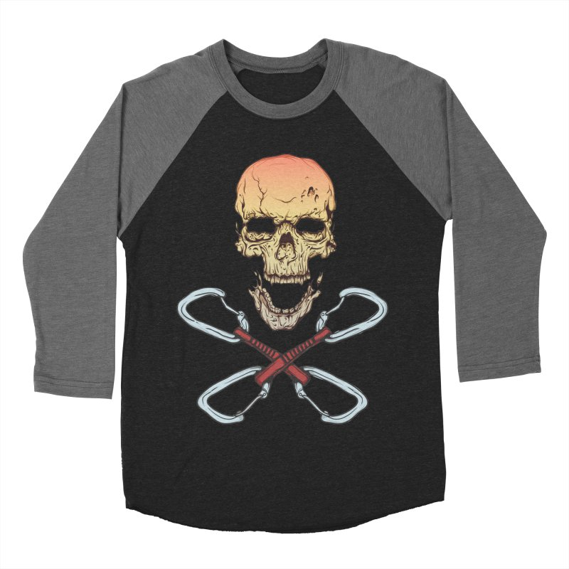 rock climber skull Men's Baseball Triblend T-Shirt by SOE