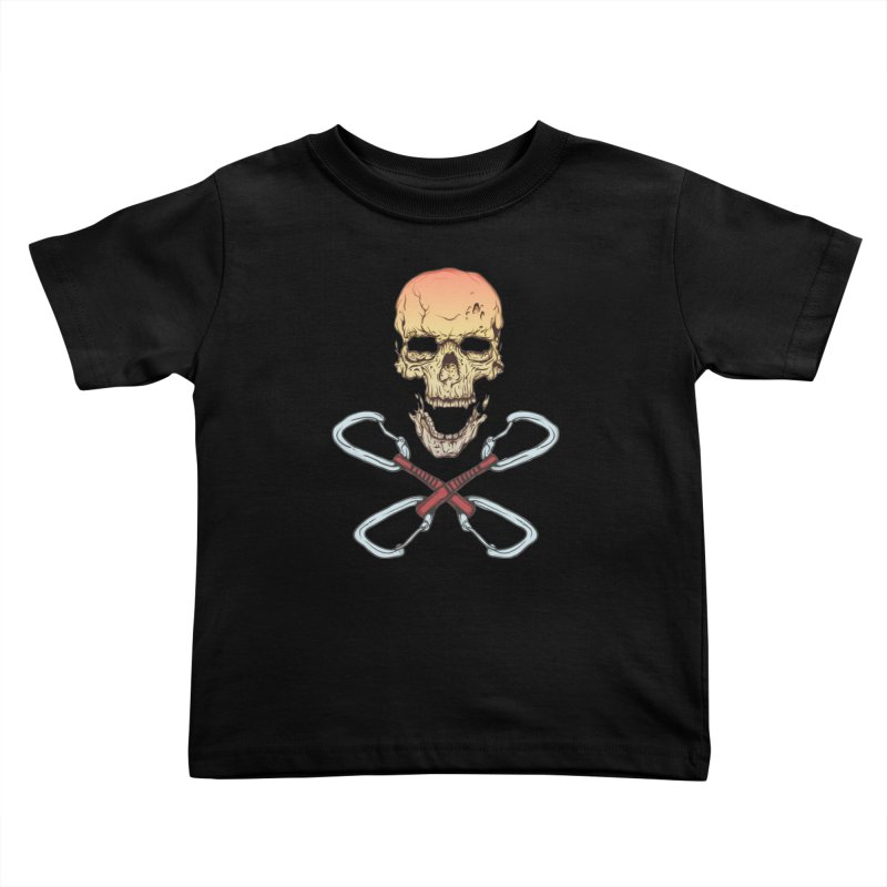 rock climber skull Kids Toddler T-Shirt by SOE