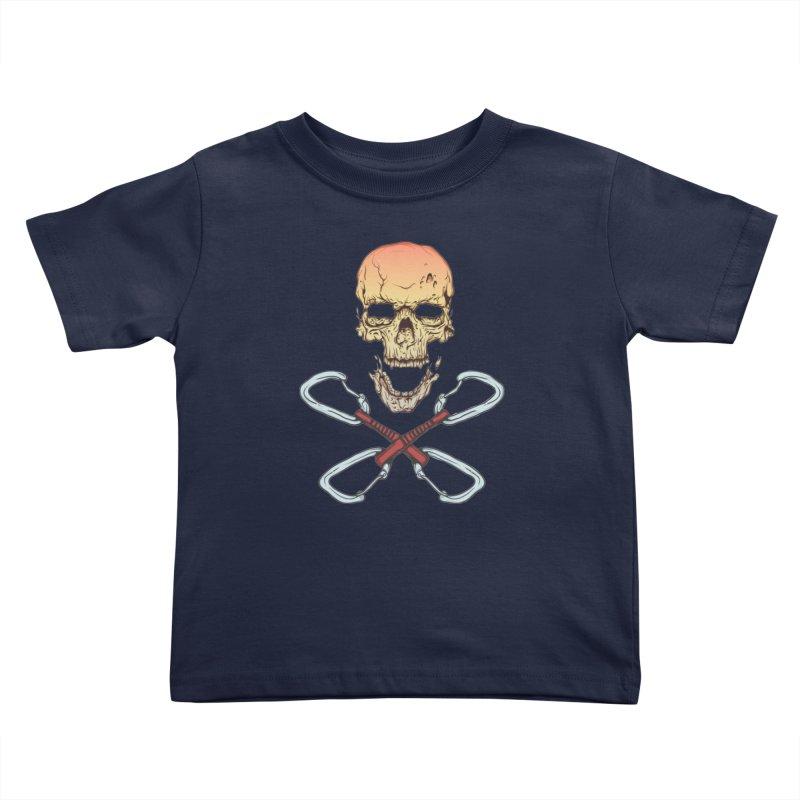 rock climber skull Kids Toddler T-Shirt by SOE