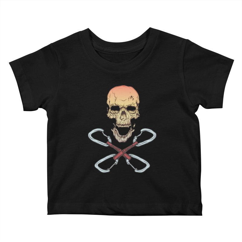 rock climber skull Kids Baby T-Shirt by SOE
