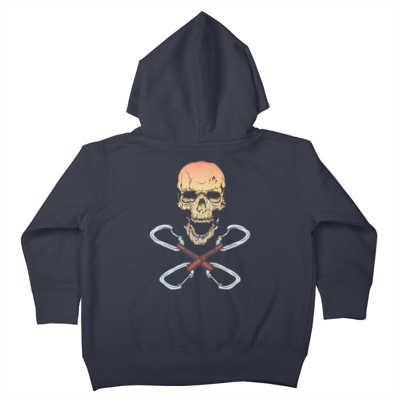 rock climber skull Kids Toddler Zip-Up Hoody by SOE