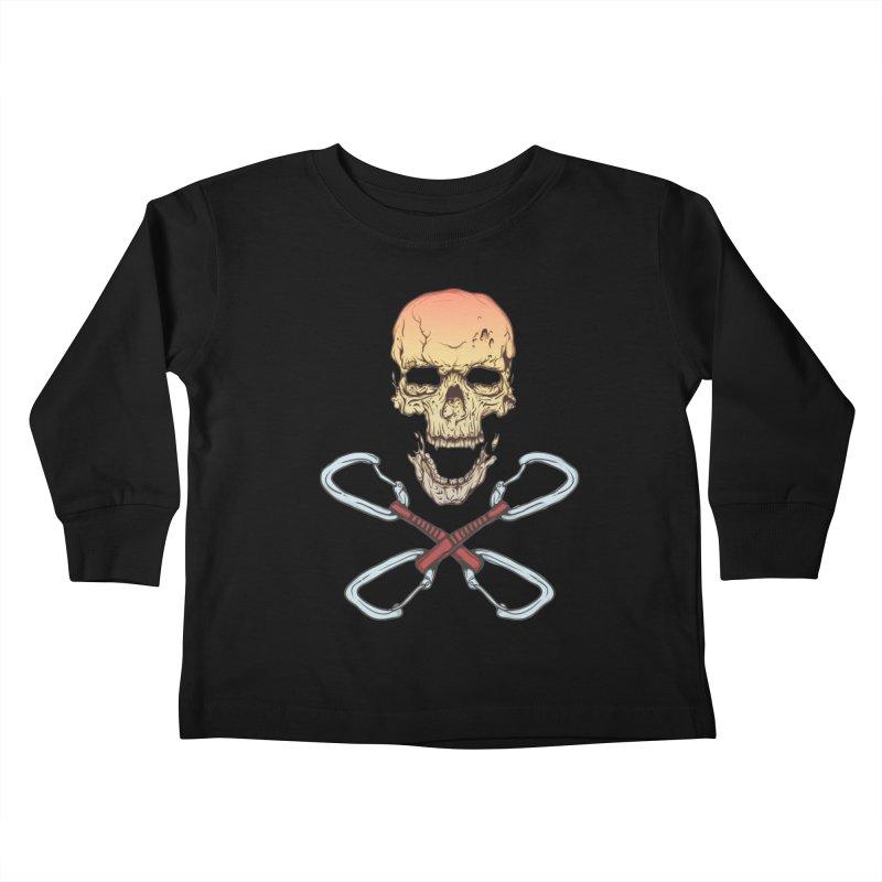 rock climber skull Kids Toddler Longsleeve T-Shirt by SOE