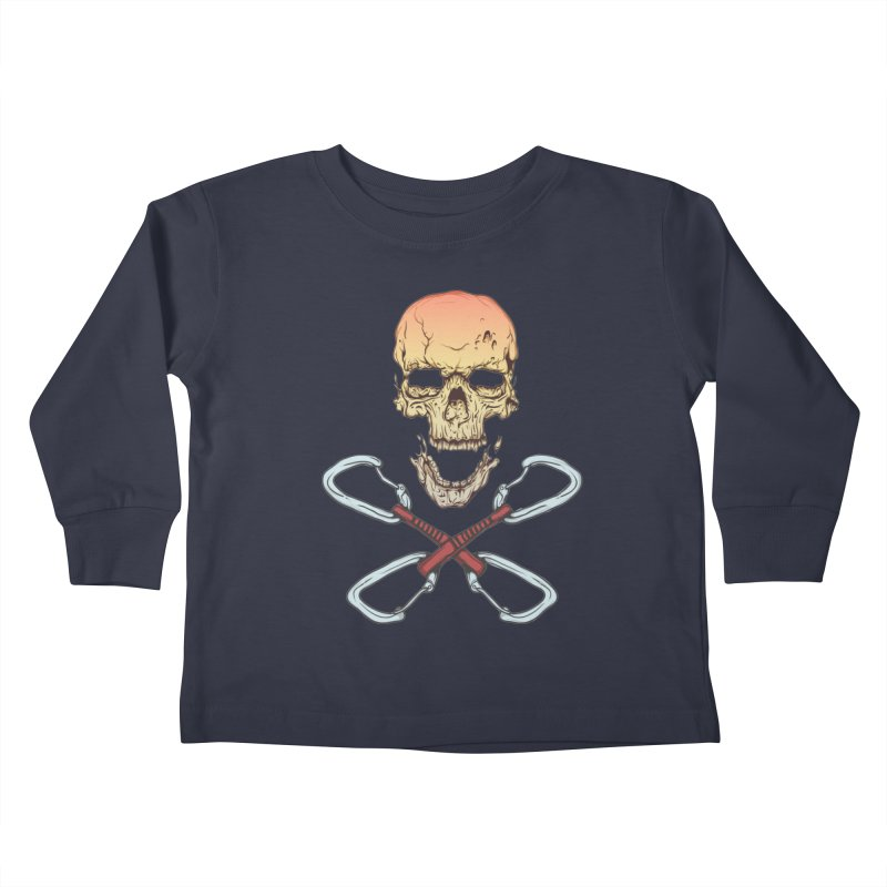 rock climber skull Kids Toddler Longsleeve T-Shirt by SOE