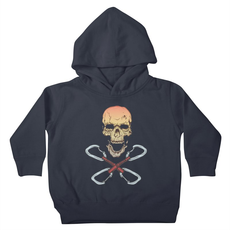 rock climber skull Kids Toddler Pullover Hoody by SOE