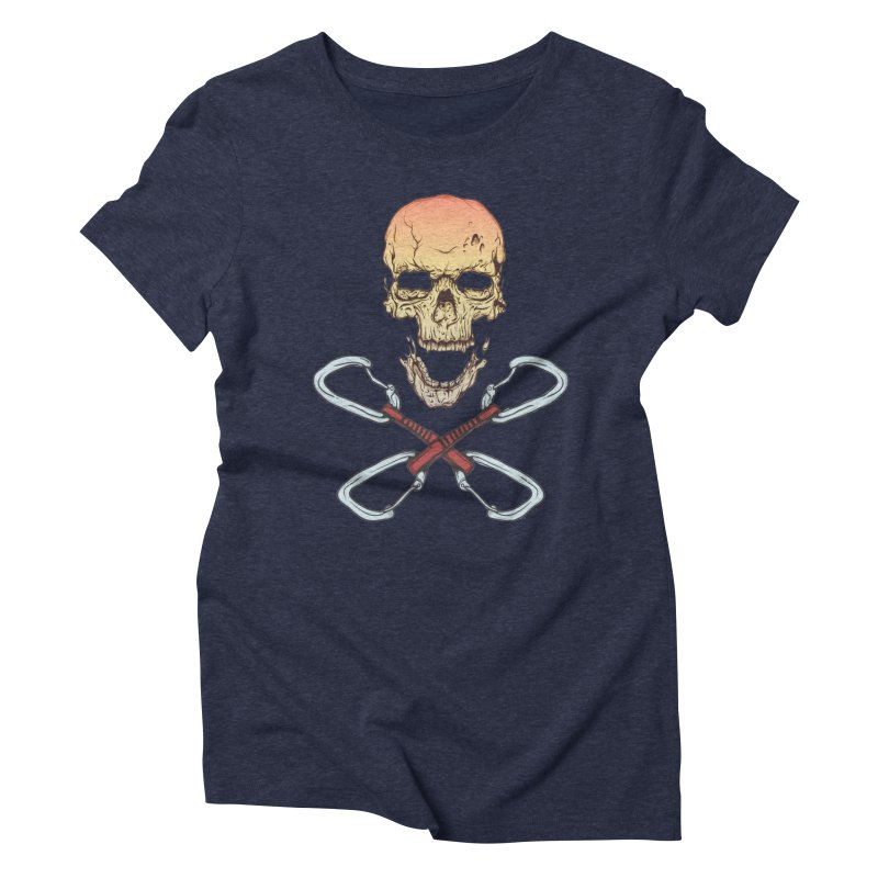 rock climber skull Women's Triblend T-Shirt by SOE