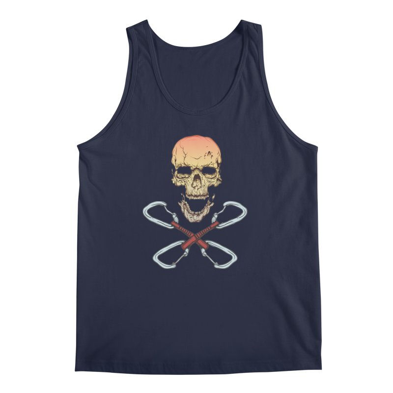 rock climber skull Men's Tank by SOE