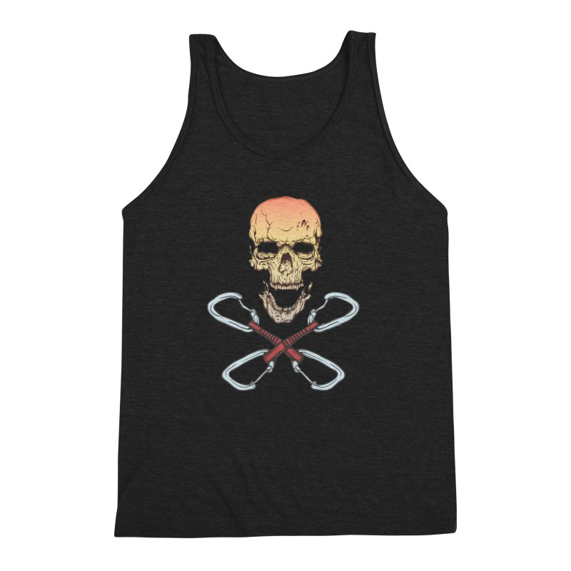 rock climber skull Men's Triblend Tank by SOE