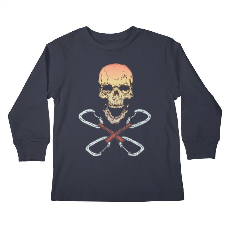 rock climber skull Kids Longsleeve T-Shirt by SOE