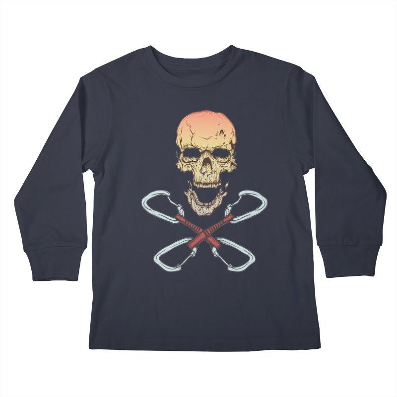 rock climber skull Kids Longsleeve T-Shirt by SOE