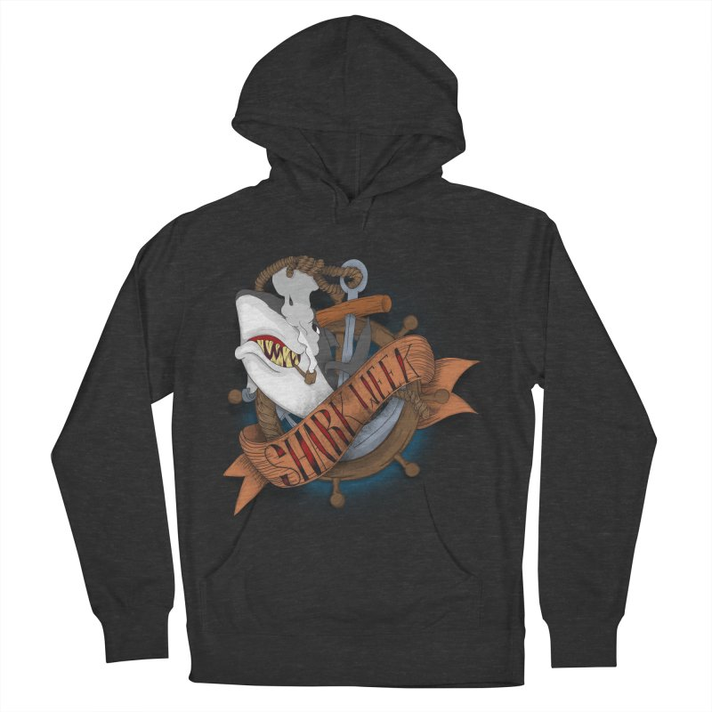 shark week oldskool Men's French Terry Pullover Hoody by SOE