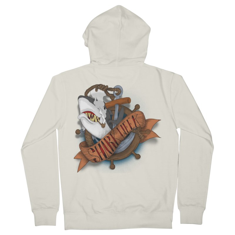 shark week oldskool Men's Zip-Up Hoody by SOE