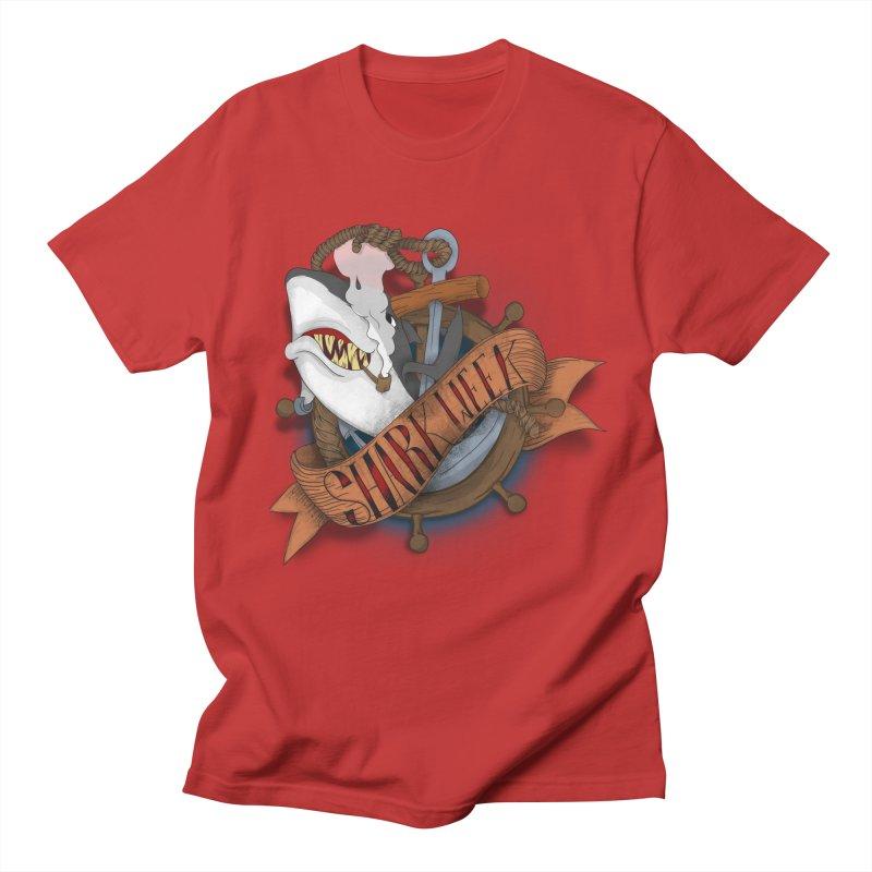 shark week oldskool Men's Regular T-Shirt by SOE