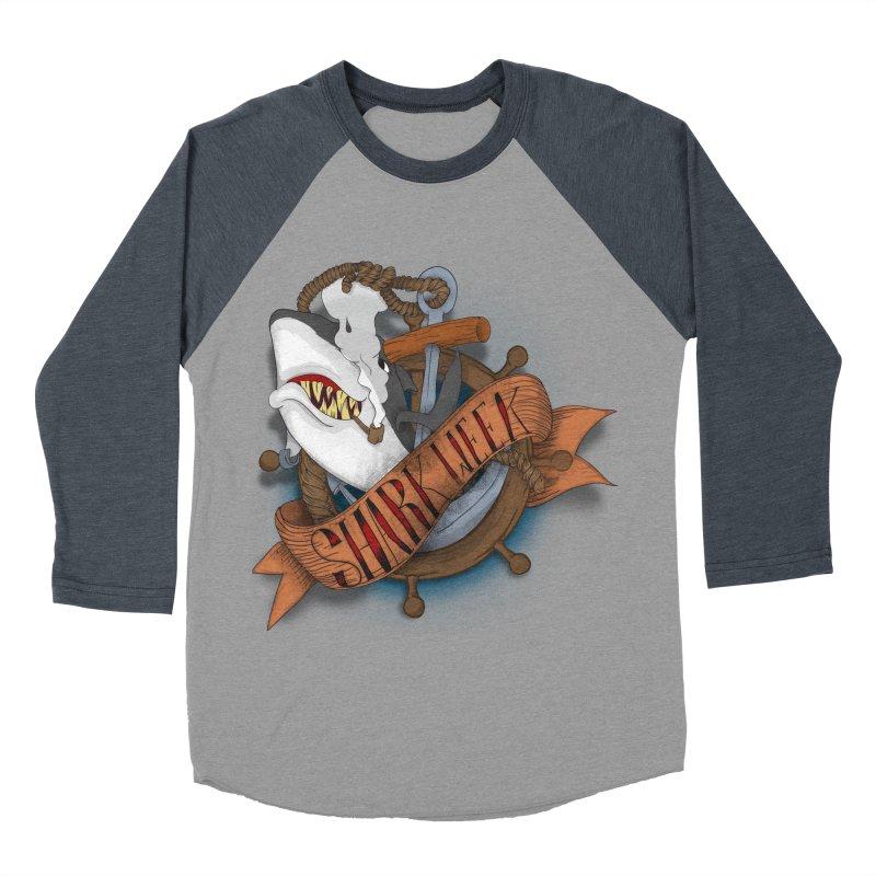 shark week oldskool Women's Baseball Triblend T-Shirt by SOE