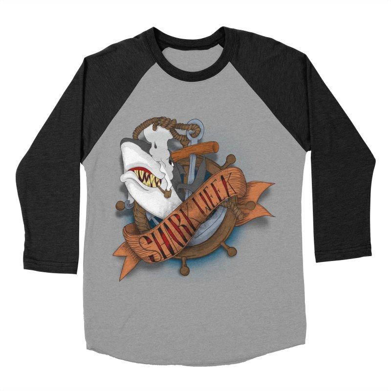 shark week oldskool Men's Baseball Triblend T-Shirt by SOE