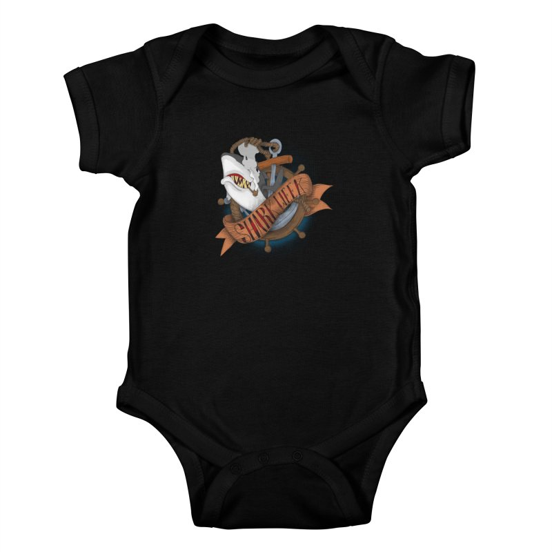 shark week oldskool Kids Baby Bodysuit by SOE