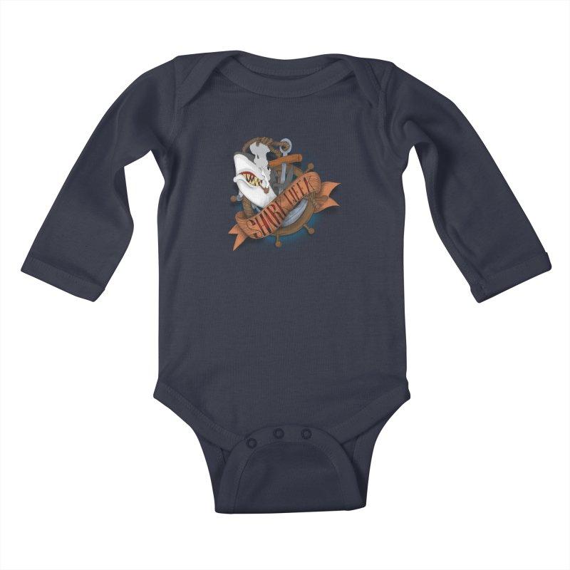 shark week oldskool Kids Baby Longsleeve Bodysuit by SOE