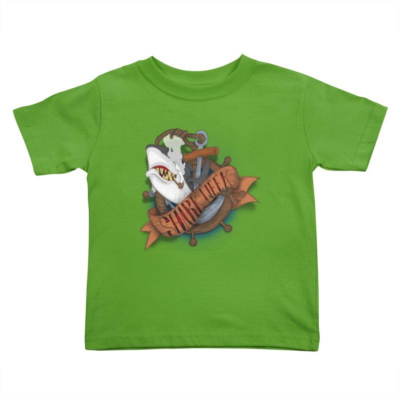 shark week oldskool Kids Toddler T-Shirt by SOE