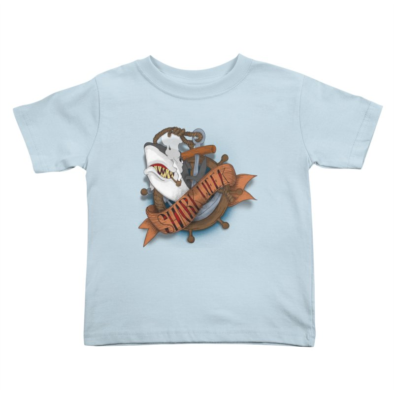 shark week oldskool Kids Toddler T-Shirt by SOE