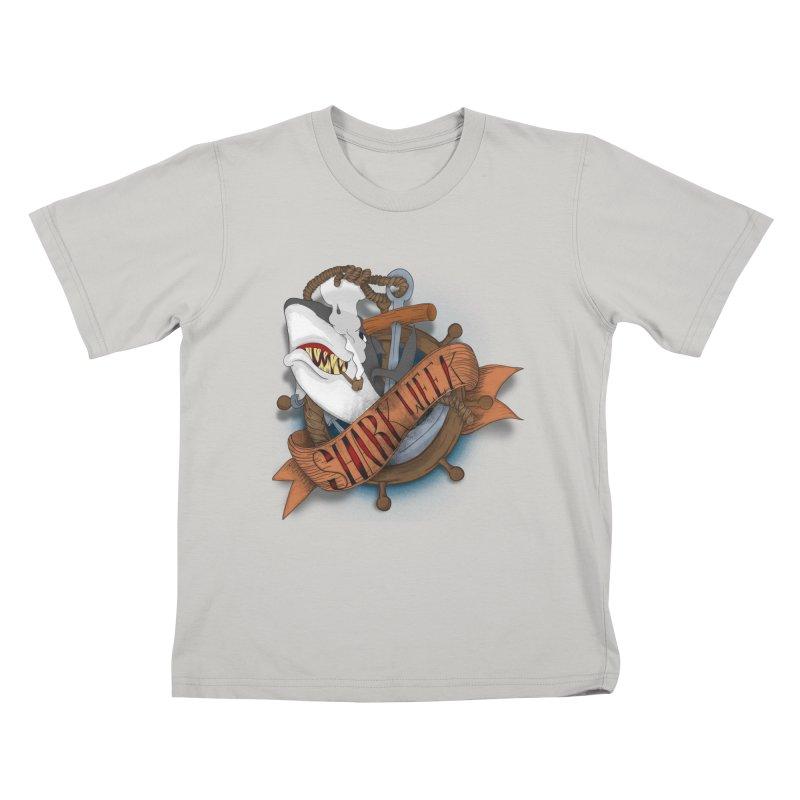 shark week oldskool Kids T-shirt by SOE