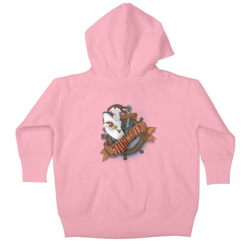 shark week oldskool Kids Baby Zip-Up Hoody by SOE
