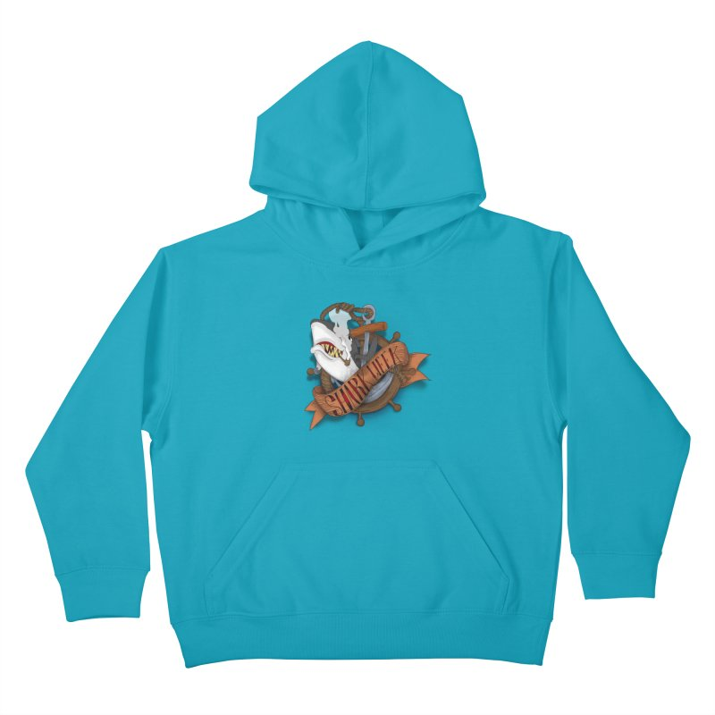 shark week oldskool Kids Pullover Hoody by SOE