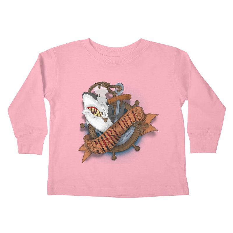 shark week oldskool Kids Toddler Longsleeve T-Shirt by SOE