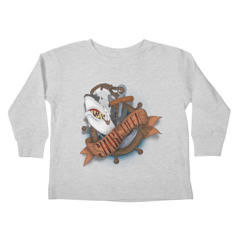 shark week oldskool Kids Toddler Longsleeve T-Shirt by SOE