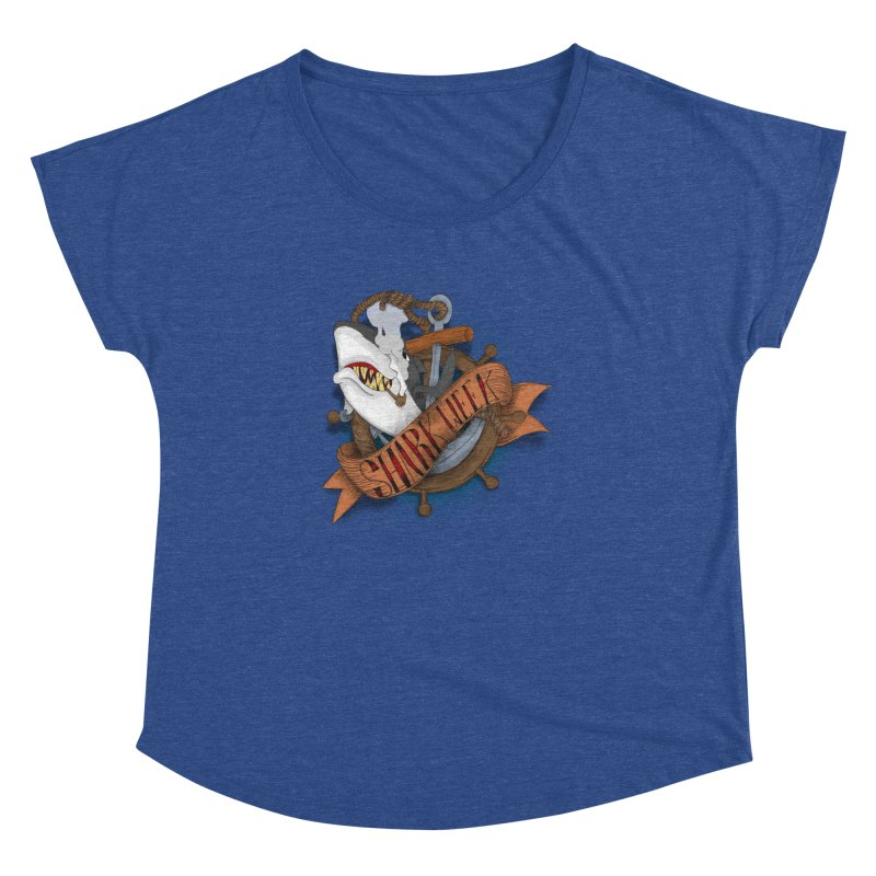 shark week oldskool Women's Dolman Scoop Neck by SOE