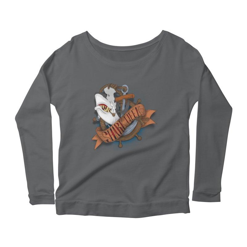 shark week oldskool Women's Scoop Neck Longsleeve T-Shirt by SOE