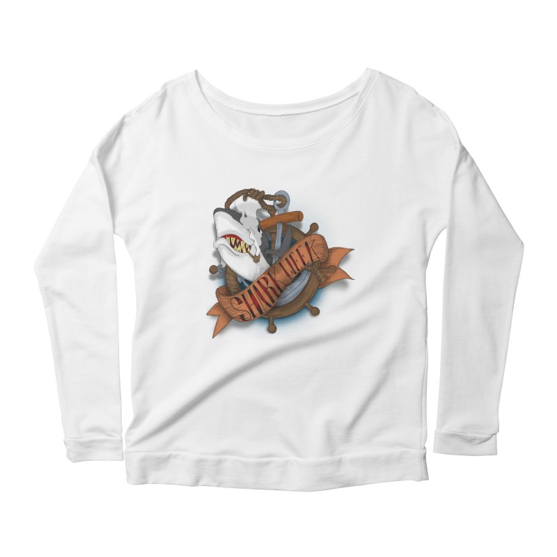 shark week oldskool Women's Longsleeve Scoopneck  by SOE