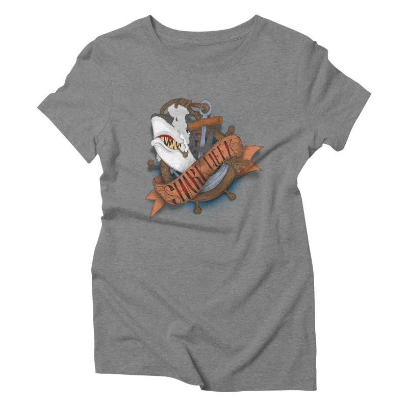 shark week oldskool Women's Triblend T-shirt by SOE