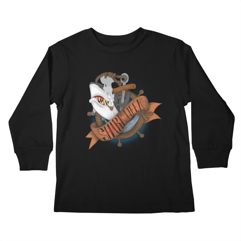 shark week oldskool Kids Longsleeve T-Shirt by SOE