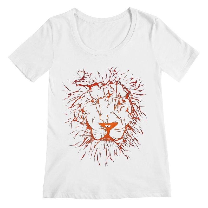 lava lion Women's Regular Scoop Neck by SOE