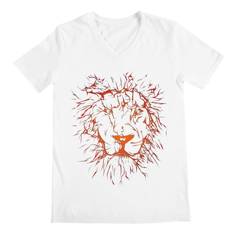 lava lion Men's V-Neck by SOE