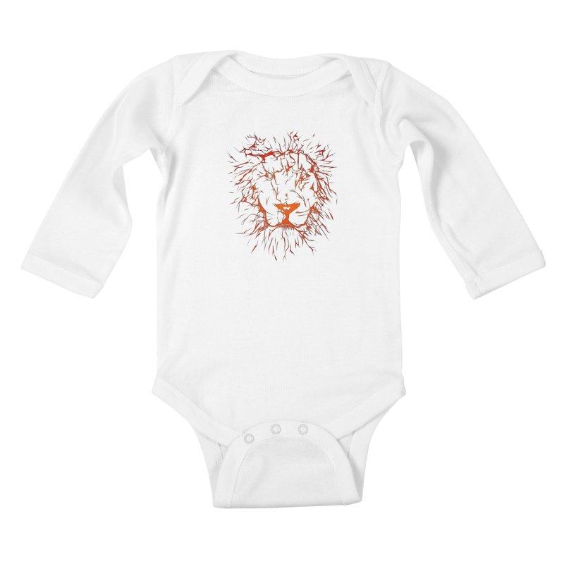 lava lion Kids Baby Longsleeve Bodysuit by SOE