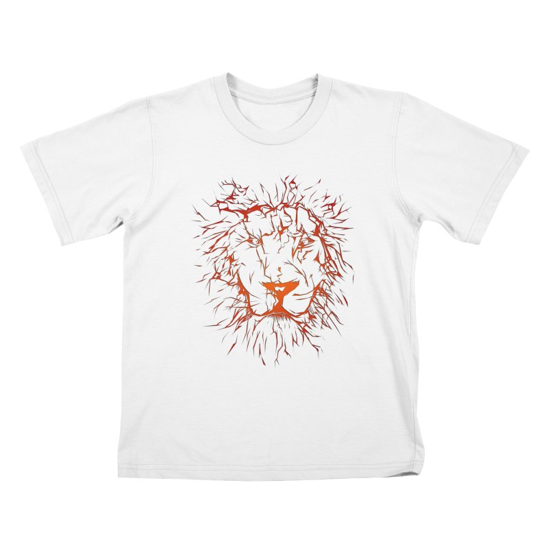 lava lion Kids T-Shirt by SOE