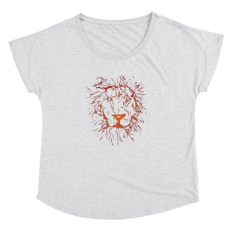 lava lion Women's Dolman Scoop Neck by SOE