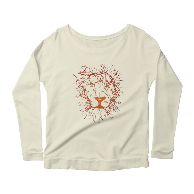 lava lion Women's Longsleeve Scoopneck  by SOE